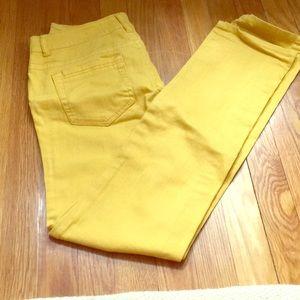 Celebrity Pink Mustard Straight Leg Jeans